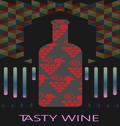 Red wine and tasting card vector