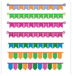 Ribbon colorful vector image