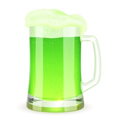 Saint Patricks Day pint of green beer vector