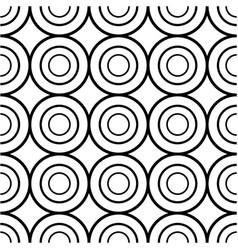 seamless circle geometric pattern vector image