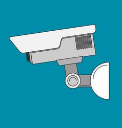 security camera flat vector image