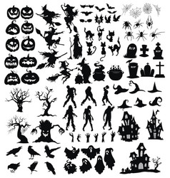 set elements for halloween a collection vector image