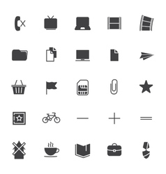 Set icons for business communication web vector image