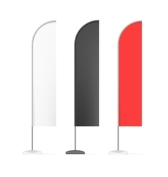 Set of White Black and Red Outdoor Blade Straight vector image