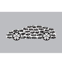 silhouette of car vector image