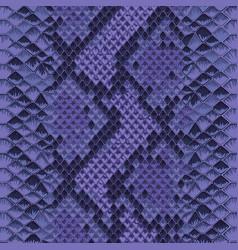 snake skin colorful animal blue seamless pattern vector image