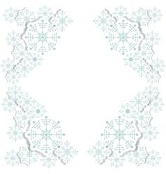 Snowflake decoration chistmas design vector