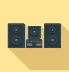 stereo system icon flat style vector image