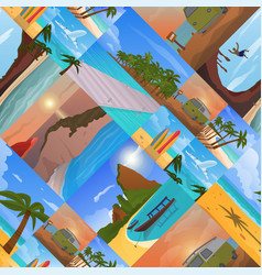 summer time vacation nature tropical beach vector image