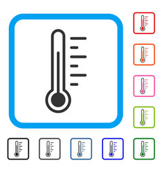 Temperature level framed icon vector