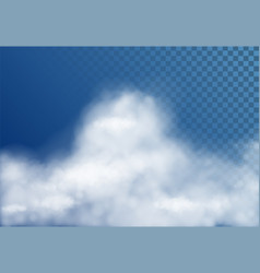 transparent white cloud vector image