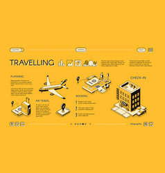 traveling service isometric web banner vector image