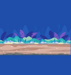 Underwater bottom game background flat landscape vector