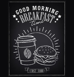 vintage poster good morning vector image