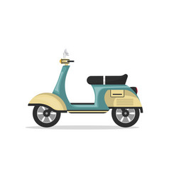 Vintage scooter isolated icon vector