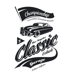 Vintage vehicle logo vector