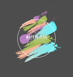Watercolor brush strokes with text vector