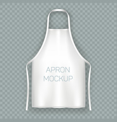 White isolated cooking apron or working uniform vector