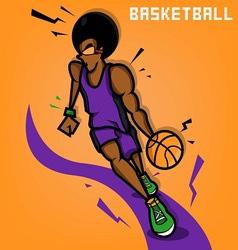 Afro Basketball Player vector image