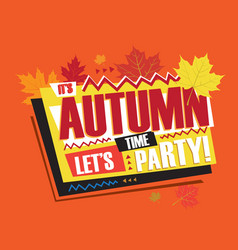autumn abstract vintage retro banner sign vector image