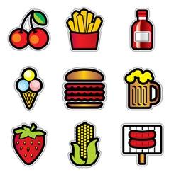 food contur vector image