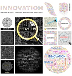 INNOVATION vector image vector image