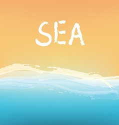 Sea and sand abstract background design vector image vector image