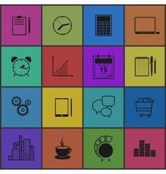 Stylish modern flat icons collection vector image