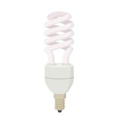 White energy saving bulb icon cartoon style vector image vector image