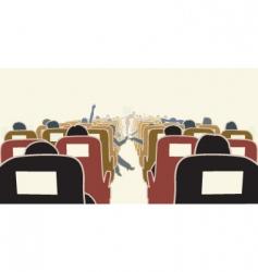 Airplane interior vector