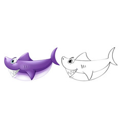 animal outline for shark vector image