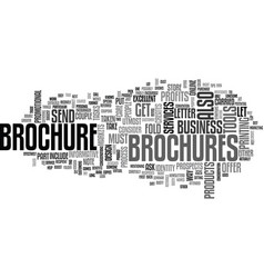 Beef up profits with brochures text word cloud vector