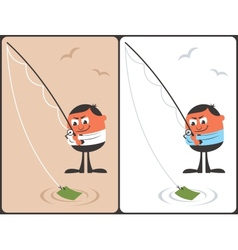 Businessman Fishing Concept vector image