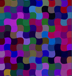 Colorful curved shape mosaic background vector