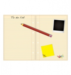 grunge paper to do list vector image vector image