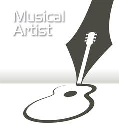 GUITAR Pen Music vector image vector image
