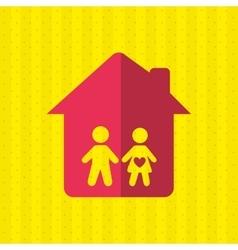 home icon design vector image vector image