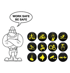 Safety and security icon set vector image vector image