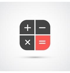 Trendy flat calculator icon vector image vector image