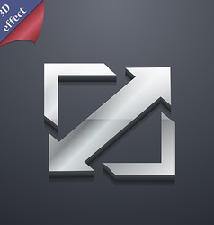 Deploying video screen size icon symbol 3D style vector image