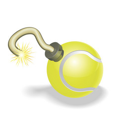 tennis ball bomb concept vector image vector image