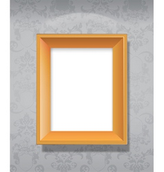 wooden picture vector image vector image