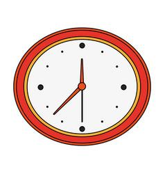 color image cartoon analog wall clock vector image