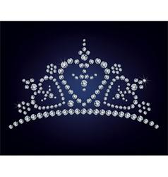 Diamond tiara vector image