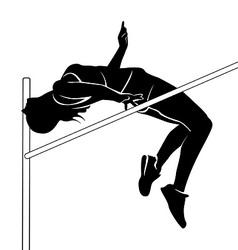 Female high jumper vector