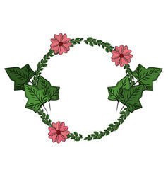 flowers wreath symbol vector image