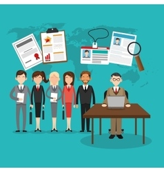 human resources employee design vector image