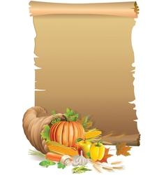 Retro background thanksgiving vector