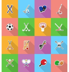 sport flat icons 18 vector image vector image