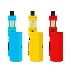 vape devices set vaping culture smoking vapor vector image